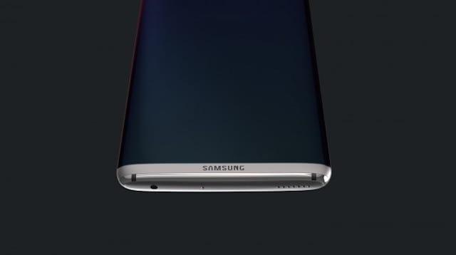 Samsung Galaxy S8 concept design bottom edge