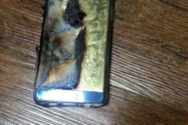 Galaxy Note7 after getting exploded